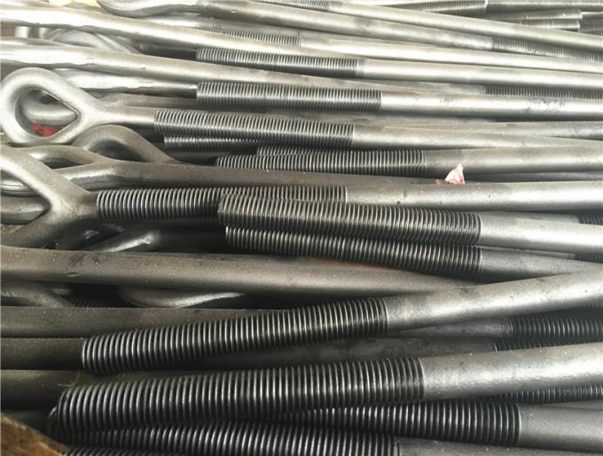 galvanized steel forged oval eye bolt for power line fittings