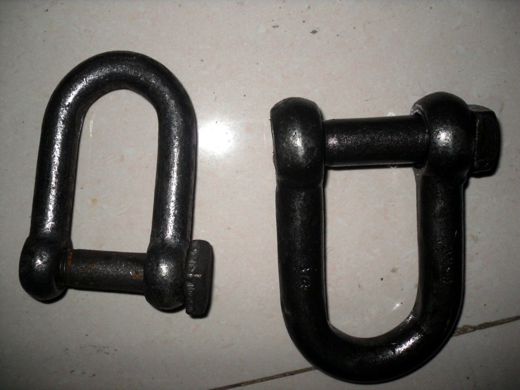 Self Colored Steel Shackles , Square Head Screw Pin Shackle European Standard