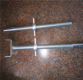 China Zinc Plated Construction Formwork Accessories Steel Adjustable Scaffolding Screw Jack Base distributor